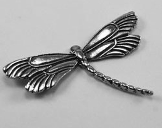 Double Winged Dragonfly - no bail Australian Pewter AF420