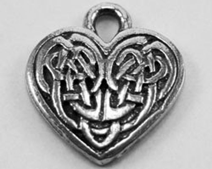 10 x Celtic knot heart made with Australian pewter