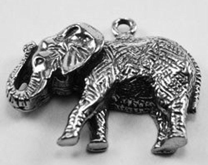 2 x Elephant pendant Australian made Pewter  1 bail AF281
