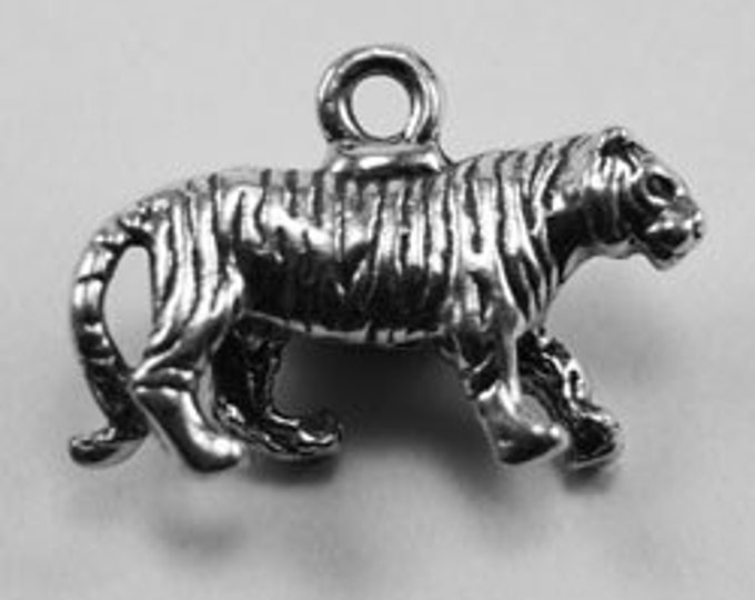2 x Small Tiger pendant or charm Australian made pewter af272