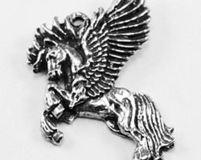 2 x Pegasus pendant or charms 1 bail Australian pewter AF060
