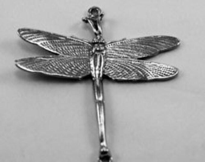 Dragonfly pendant 2 bails  Quality Australian Pewter AF351