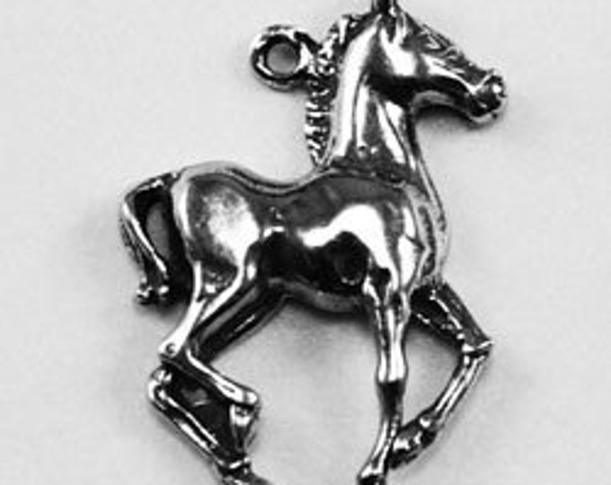 2 x Tiny Horse charm or pendant 1 bail Australian Pewter AF052