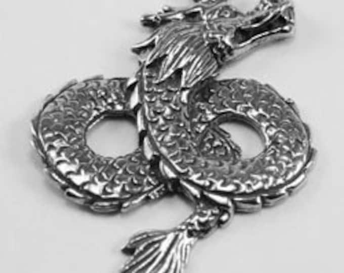 Dragon pendant 1 bail Australian Pewter DR41