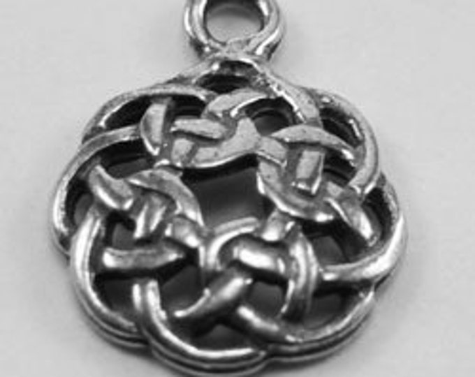 10 x Tiny Celtic Circle charm for pendant or earrings1 bail Australian Pendant R236