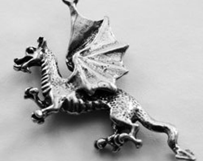 2 x Small Dragon pendants made with quality Australian Pewter DR85