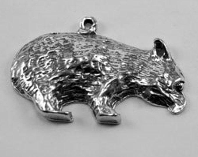 Wombat Pendant Australian Pewter