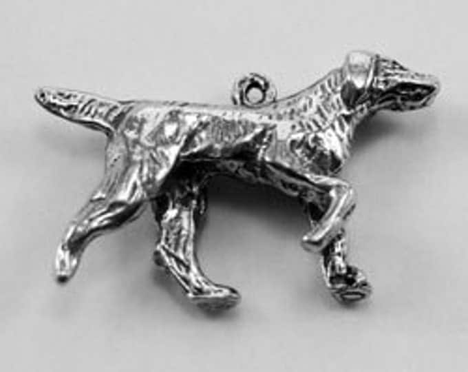 Pointer Dog made with Australian Pewter charm for pendant af375