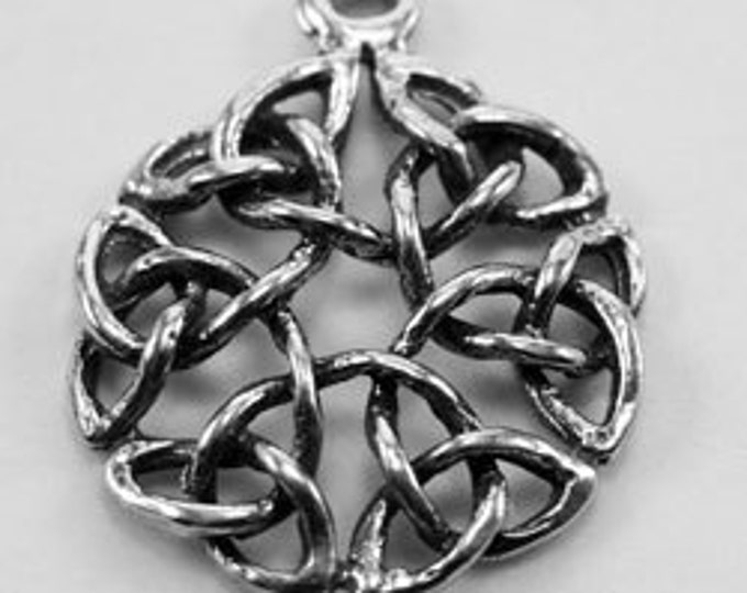2 x Open Celtic Circle - 1 bail pendant or charm Australian Pewter (r060)