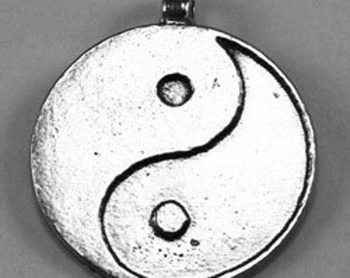 Yin Yang  pewter pendant 1 bail made in Australia sng017