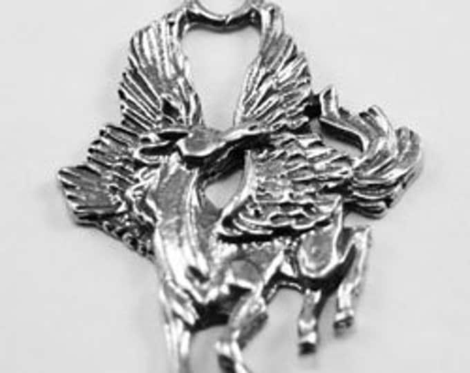 Pegasus pendant 1 bail Australian Pewter AF344