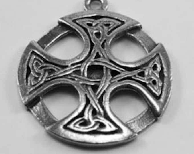 2 x Celtic cross in circle amd with Australian Pewter R186