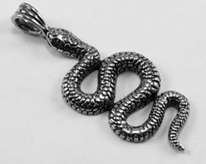 1 x Snake pendant  1 bail Australian Pewter AF393