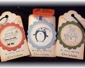 CHRISTMAS GHIRADELLI OR GIFT CARD HOLDER ORNAMENT (SET OF 3)
