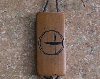 Flaming Chalice - Laser Engraved Bamboo Pendant