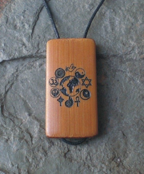 Unity - Laser Engraved Bamboo Pendant