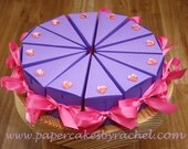 Party Favor and Centerpiece Princess Birthday Party Paper Cake