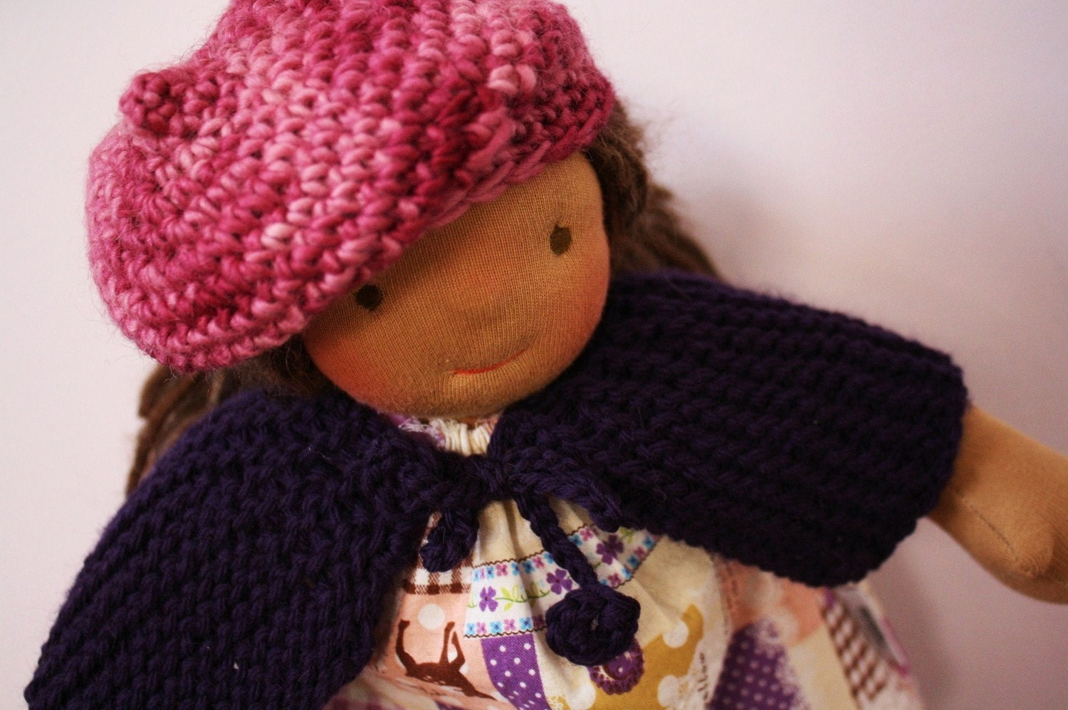 Knitting Pattern Dolls Cape : DIY Doll Clothing Shawl or Cape Short rows knitting by figandme