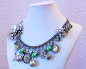 How Does Your Garden Grow Altered Vintage Charm Necklace