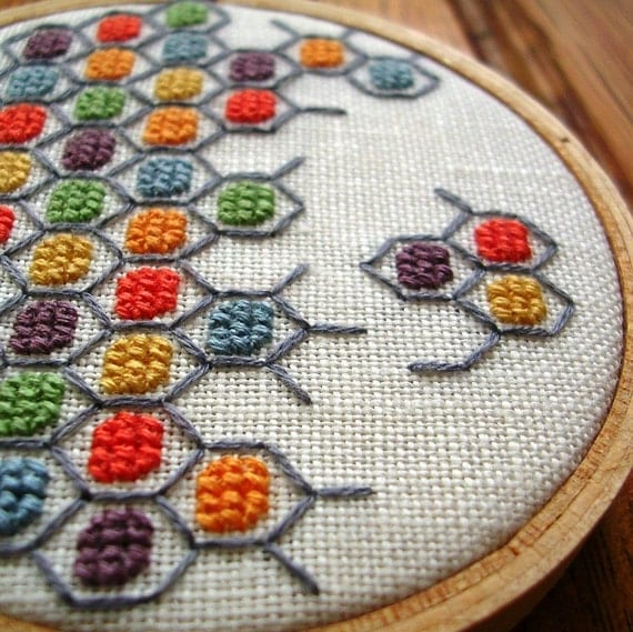 Geometric Cross-stitch / OOAK