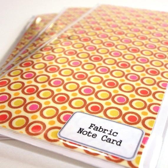 Amy Butler Handmade Fabric Greeting Card - last one