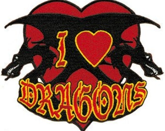 I Love Dragons Patch