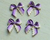 Handicraft Ribbon Bow Tie Appliques 401.6 -- Variegated Purple - 24 pcs