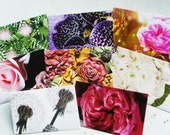 Recycled Envelopes from magazine paper 286.46 -- Flowers are Blooming -- 8 pcs--with seal stickers