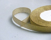 SALE - Metallic Ribbon 273 --- Gold --- 25 yards --- 0.5 inch wide