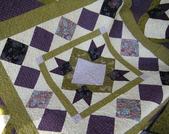 Purple Purple Purple Green Quilt