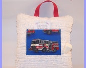 Boy Tooth Fairy Pillow - Fire Truck Fairy