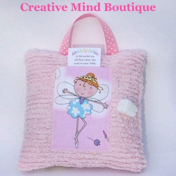 Girl Tooth Fairy Pillow - Tooth Fairy Princess in Pink