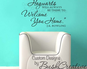 """Harry Potter Quote """"by page or by big screen""""  Wall Decal 012- 20x30"""""""