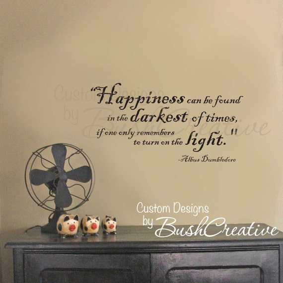 Harry Potter Wall Decal - Wall Stickers - Vinyl Decal Quote by Dumbledore 012-28
