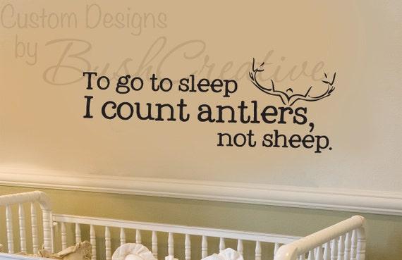 """Wall Decals Nursery Hunting Deer Baby Humor 039-33"""""""