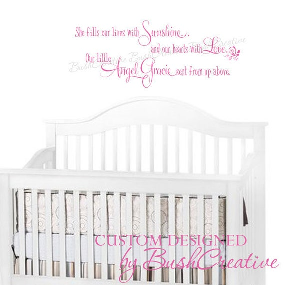 "Wall Decal Little Girl Nursery Sunshine Love Little Angel 138-36"""