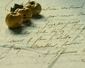 A memory of Three quinces, Fine art photograph, print 8x8