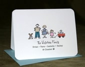 Build-Your-Family Notecards w/Envelopes. Set of 12.