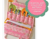 Crayon Holder PDF Sewing Pattern Carrying Case for Crayons  The Crayon Art Folio