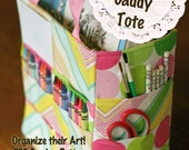 Kids Art Organizer Tote Sewing Pattern PDF Ebook organize your art crayons pencils pads paints