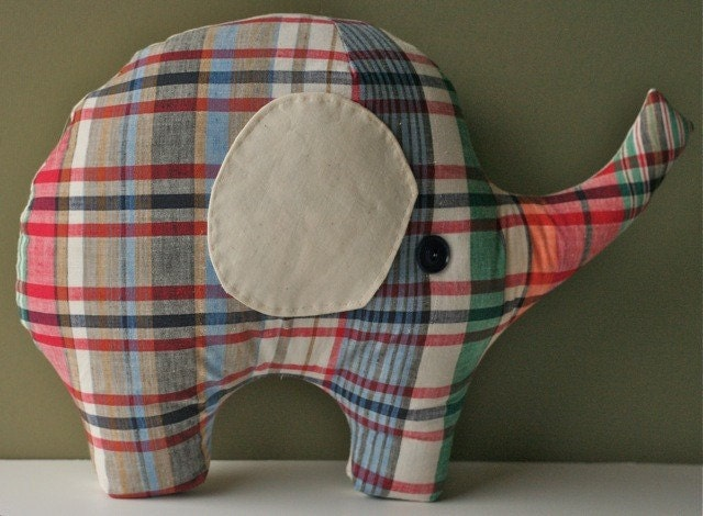 Links To More Than 10 000 Crochet Patterns And Pieces: Lucky Elephant PDF Sewing Pattern Plush Pillow DIY