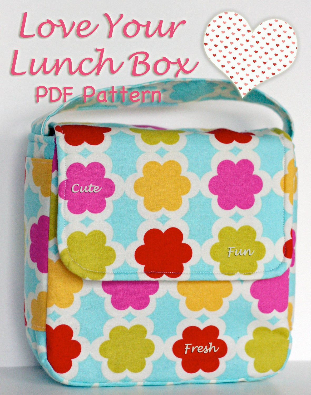 Lunch box sewing pattern pdf love your