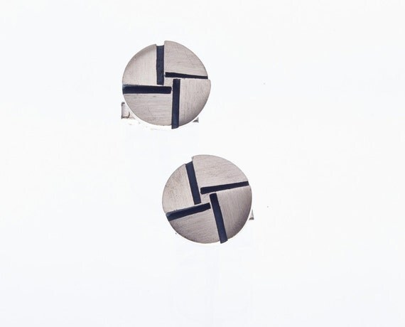 Sterling Cufflinks - Rotter - 60s Modernist Cuff Links