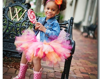 Orange Blossom, Tutu, Birthdays,Parties, Photo Shoots,Dress Up in Sizes to 6yrs