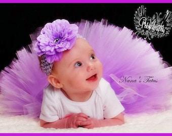 2pc  Sweet Lilac, Baby Tutu Set, Baby Shower, 1st tutu, 1st Photo Shoots  size NB-6mos