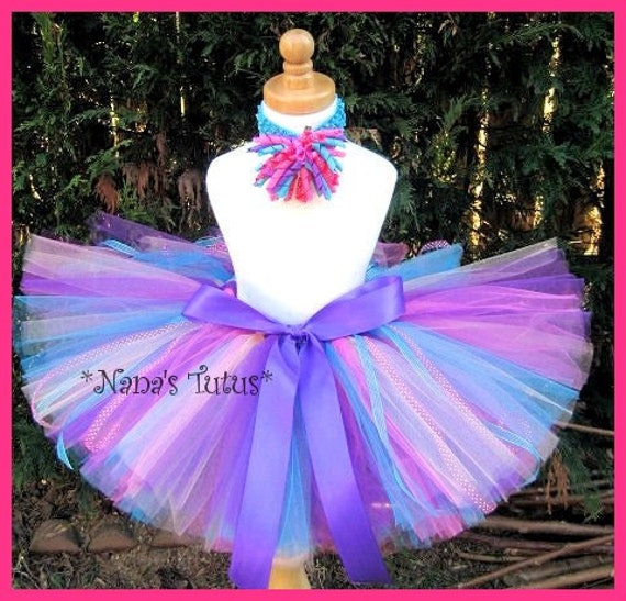 CUSTOM -  DIVA TUTU 2 pc set  perfect for Photo Shoots and  Birthdays fits up to 1yr
