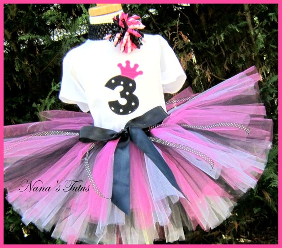 Birthday Number,Princess Crown, Party  Outfit, Tutu Set  in sizes 1yr thru 5yrs