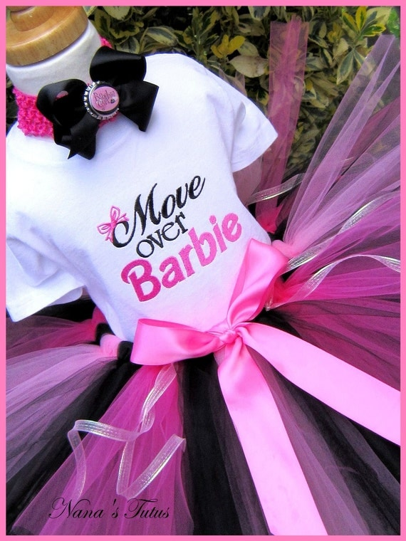 Move Over Barbie,  Party Outfit, Barbie Party. Tutu Set,Theme Parties, Photos in Size 1yr thru 5yrs