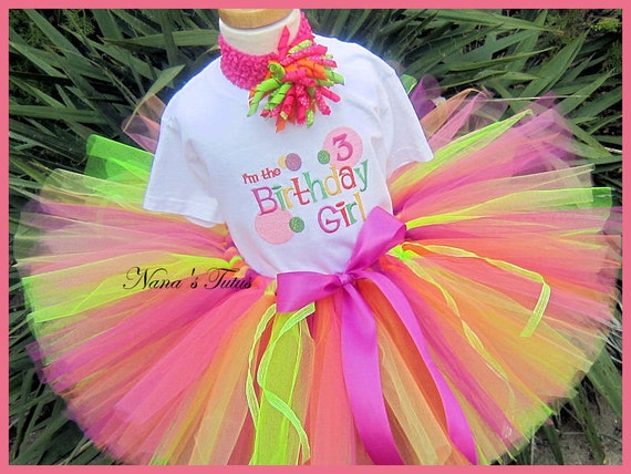 SALE. 3rd Birthday, Ready To Ship, Im The Birthday Girl, Party Outfit, Tutu Set,   Size 3yrs