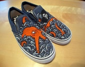 Custom Vans Slip-On, Era or Authentic Shoe Design, Various Examples